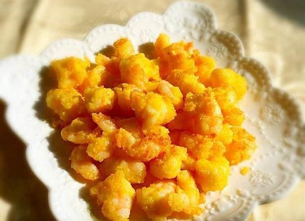 超级美味的香酥黄金虾球