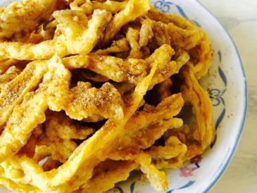 平菇新做法:脆皮平菇,外酥里嫩,一口一个,外酥里嫩